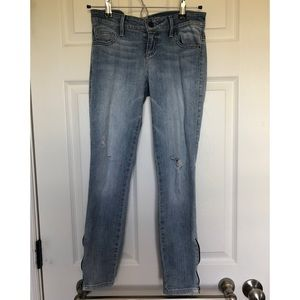 Guess skinny jeans with side zip